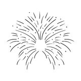 Fireworks burst design. Fireworks burst effect decoration icon over white background. vector illustration Royalty Free Stock Photos