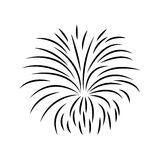 Fireworks burst design. Fireworks burst effect decoration icon over white background. vector illustration Stock Photo