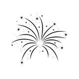 Fireworks burst design. Fireworks burst effect decoration icon over white background. vector illustration Royalty Free Stock Images