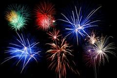 Fireworks bursting stock image