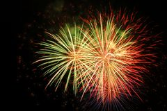 Fireworks Bursting In Air royalty free stock photography