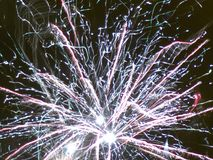 Fireworks bursting close-up royalty free stock images
