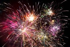 Fireworks bursting Stock Photo