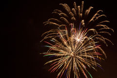 FIREWORKS. Bursting of light that fills the air at night in means of celebration Stock Image