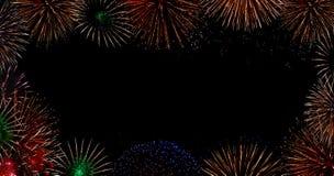 Fireworks bursting stock images