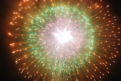 Fireworks bursting Stock Photography