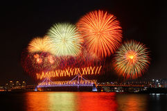 Fireworks at Busan. South Korea Stock Image