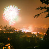 Fireworks in Cagliari Royalty Free Stock Photos