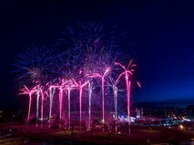 Fireworks at the the Calgary Stampede Stock Photography