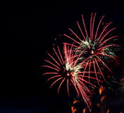 Fireworks For Canada Day Royalty Free Stock Images