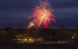 Fireworks at Canada Day Celebrations Stock Photography