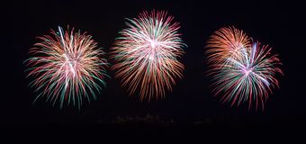 Fireworks on Carcassonne festival of 14 july 2012 Stock Images