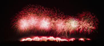 Fireworks in Carcassonne, France Royalty Free Stock Photos