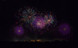 Fireworks in Carcassonne, France Stock Image