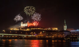 Fireworks on the Castle Royalty Free Stock Photography