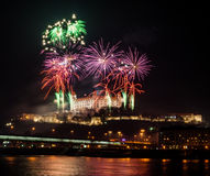 Fireworks on the Castle Royalty Free Stock Photos