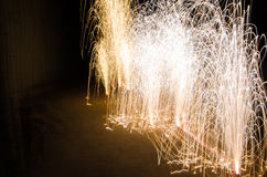 The fireworks. Fireworks celebrating the Chinese lunar New Year Stock Image