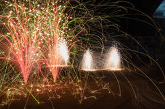 The fireworks. Fireworks celebrating the Chinese lunar New Year Royalty Free Stock Images