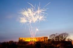 Fireworks celebrating springtime. In Sweden Royalty Free Stock Images