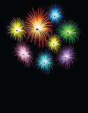 Fireworks for celebration. Fireworks for holidays such as new year, Christmas celebration Royalty Free Stock Image