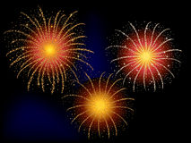 Fireworks for celebration. Fourth of July or New Year's firework display Royalty Free Stock Image