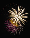 Fireworks celebration. Colorful fireworks celebration display at night Royalty Free Stock Images