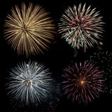 Fireworks Celebration. Composite image using multiple images of a fireworks display on Canada Day celebration Stock Photography