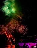 Fireworks celebration. Celebration  fireworks by the pier Royalty Free Stock Photo
