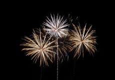 Fireworks celebration. Amazing display of fireworks during a celebration event Royalty Free Stock Images