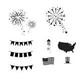 Fireworks celebration. America Independence day fireworks vector Royalty Free Stock Photo