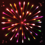 Fireworks celebration anniversary colorful salute. Decorative background vector illustration Royalty Free Stock Photography