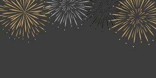 Fireworks celebration background with copy space. Vector illustration EPS10 royalty free illustration