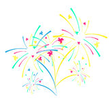 Fireworks and celebration background. Winner, victory poster, banner Stock Photography