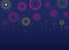 Fireworks and celebration background, winner, victory poster. Banner Stock Photos