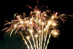 Fireworks celebration. After a baseball game and during 4th of July Royalty Free Stock Images