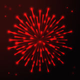 Fireworks celebration  colorful salute decorative background. Vector illustration Royalty Free Stock Photography