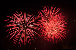 Fireworks. Celebration of the country in summer Stock Photos