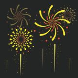 Fireworks and celebration. Icon vector illustration graphic design Stock Images