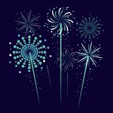 Fireworks and celebration. Icon vector illustration graphic design Royalty Free Stock Photo