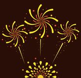 Fireworks and celebration. Icon vector illustration graphic design Stock Photos