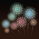 Fireworks and celebration. Icon vector illustration graphic design Royalty Free Stock Photography