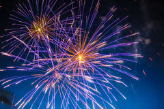 Fireworks Celebration. July 4th fireworks celebration display Royalty Free Stock Image