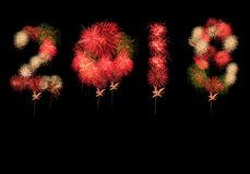 Fireworks celebration 2018 new yea Royalty Free Stock Photo