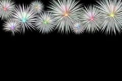 The fireworks celebration new year on black background.  Royalty Free Stock Images