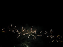 Fireworks. Celebration of New Year in Copacabana Royalty Free Stock Images