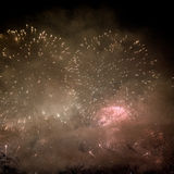 Fireworks. Celebration of New Year in Copacabana Royalty Free Stock Photography
