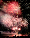 Fireworks. Celebration fireworks in a new year party Stock Photo