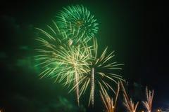 Fireworks Celebration at night on  Background Stock Photography