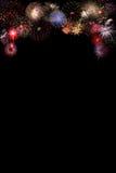 Fireworks Celebration at night. On black Background Royalty Free Stock Photo