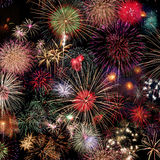 Fireworks Celebration at night Royalty Free Stock Photography